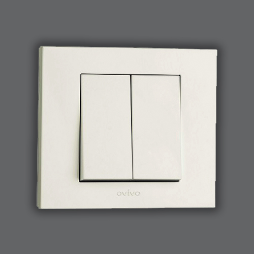 DOUBLE ONE WAY SWITCH - WHITE