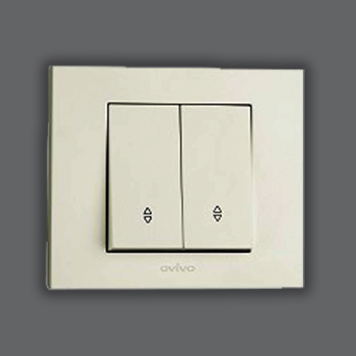 DOUBLE TWO WAY CONTROL SWITCH LIGHT - WHITE