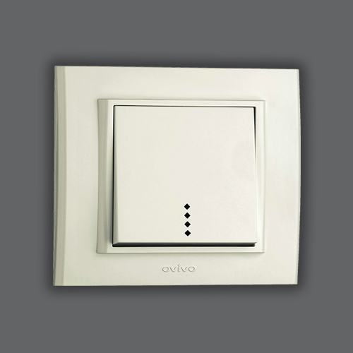 ONE WAY SWITCH  ILLUMINATED - WHITE