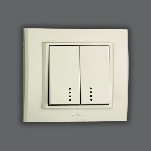 DOUBLE ONE WAY SWITCH ILLUMINATED - WHITE