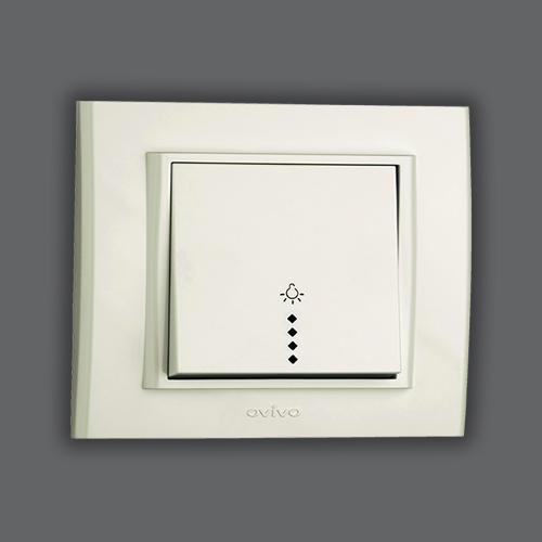 CONTROL SWITCH LIGHT ILLUMINATED - WHITE