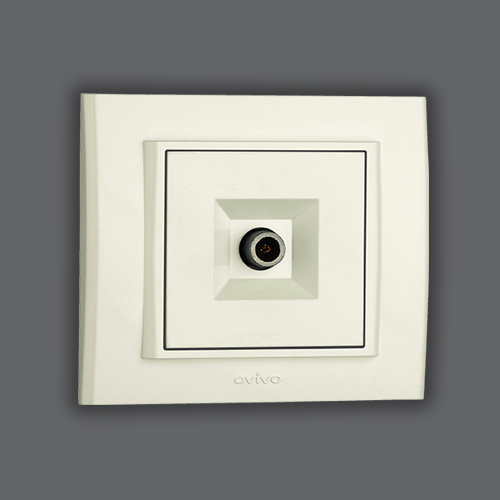 TV SOCKET OUTLET END OF LINE - WHITE