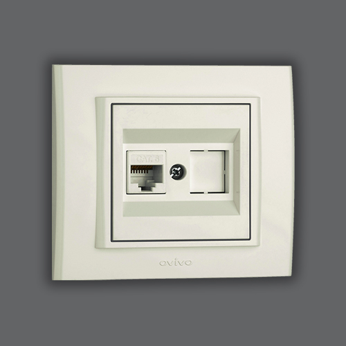 DATA SOCKET OUTLET - WHITE