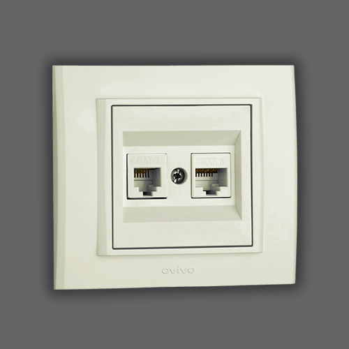 DATA+NUMERIS TELEPHONE SOCKET OUTLET - WHITE