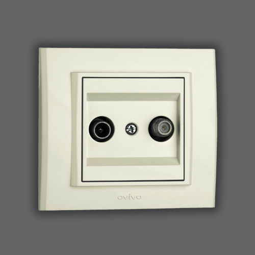 TV SAT.SOCKET OUTLET - END OF LINE - WHITE