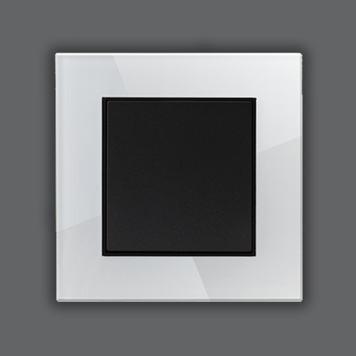 GLASS SINGLE FRAME - WHITE + METALLIC BLACK