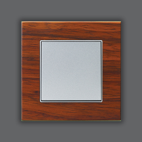 ELEMENTS WOOD SINGLE FRAME - SAPELLİ + MAT SILVER