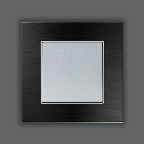 ALUMINUM SINGLE FRAME - BLACK + MAT SILVER