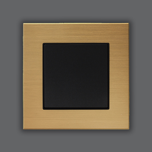 ALUMINUM SINGLE FRAME - BRONZE + METALLIC BLACK