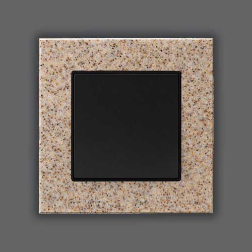 CORIAN SINGLE FRAME - SANDSTONE + METALLIC BLACK